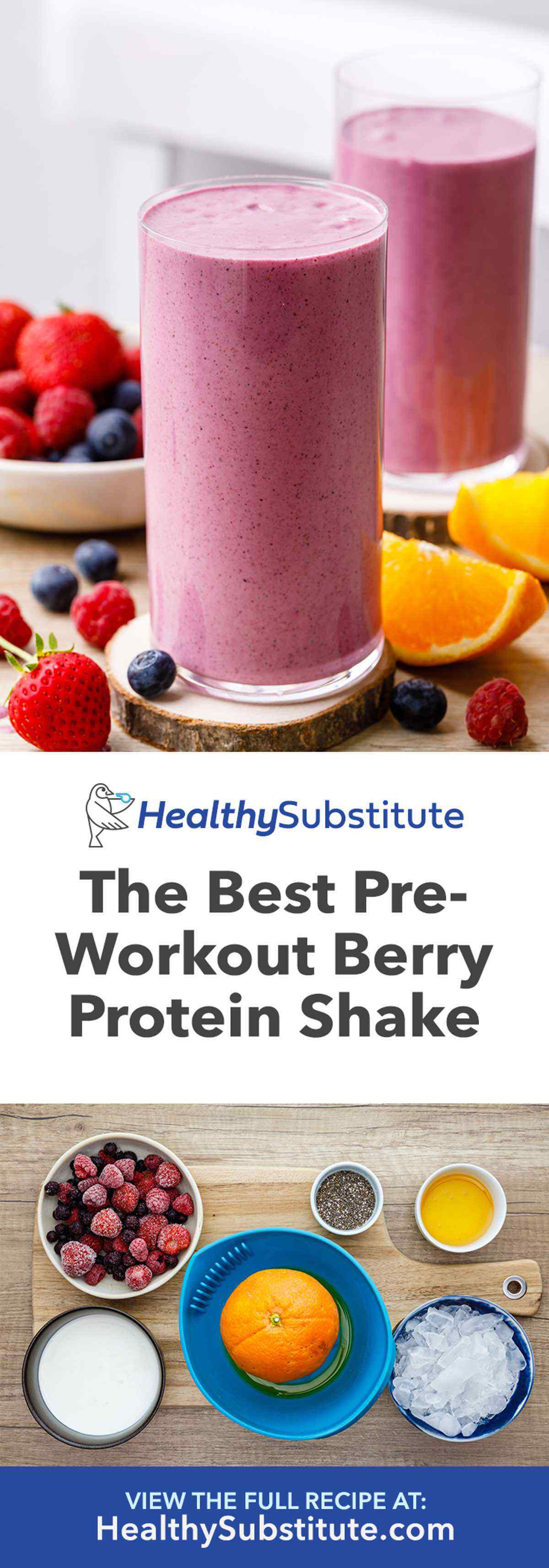 Berry Pre-Workout Protein Shake