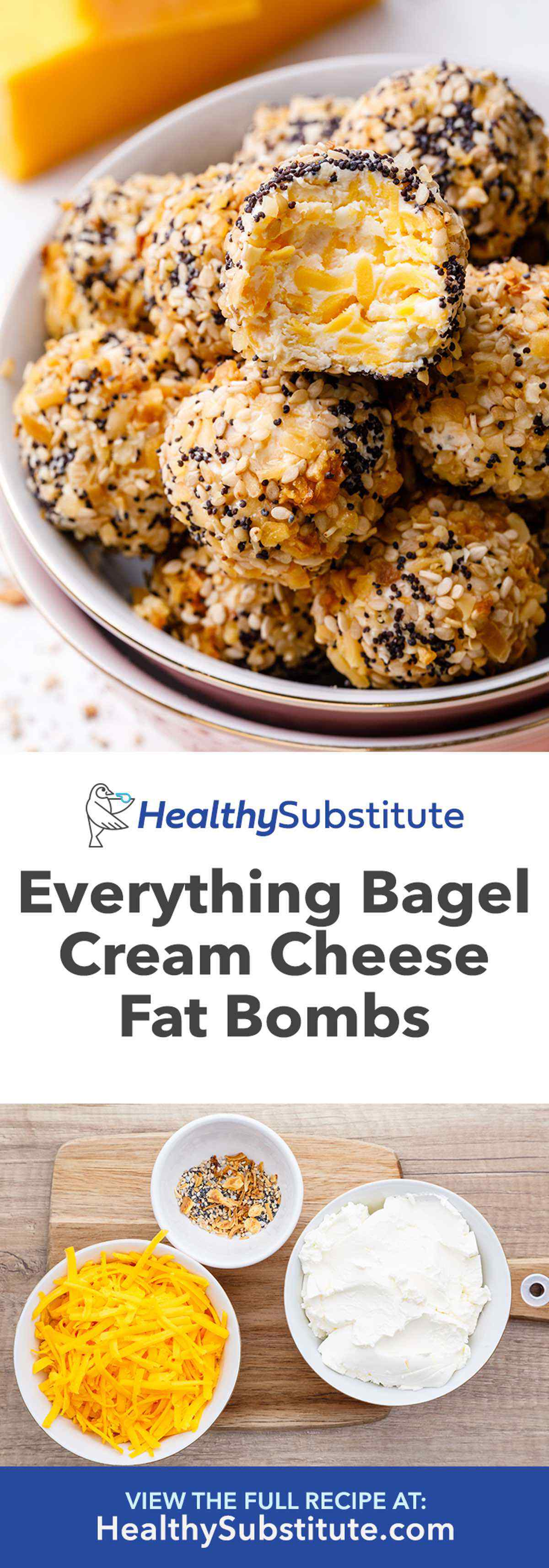 Everything Bagel Cream Cheese Fat Bombs