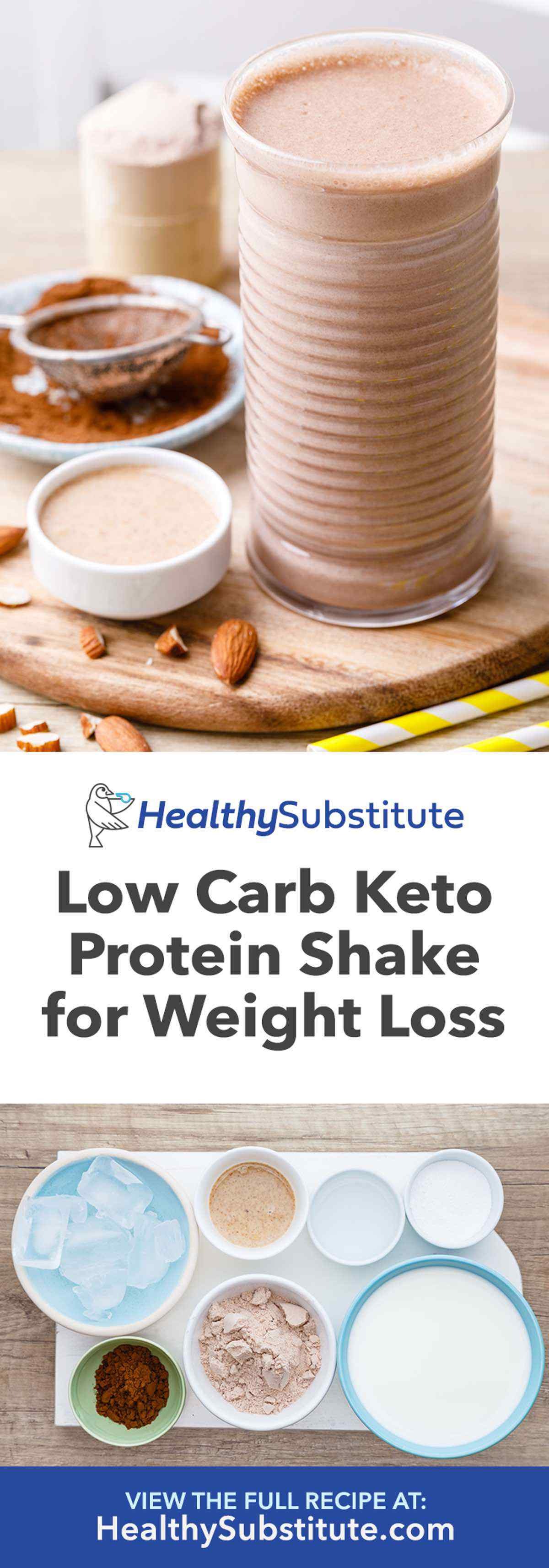 Low Carb Keto Protein Shake for Weight Loss