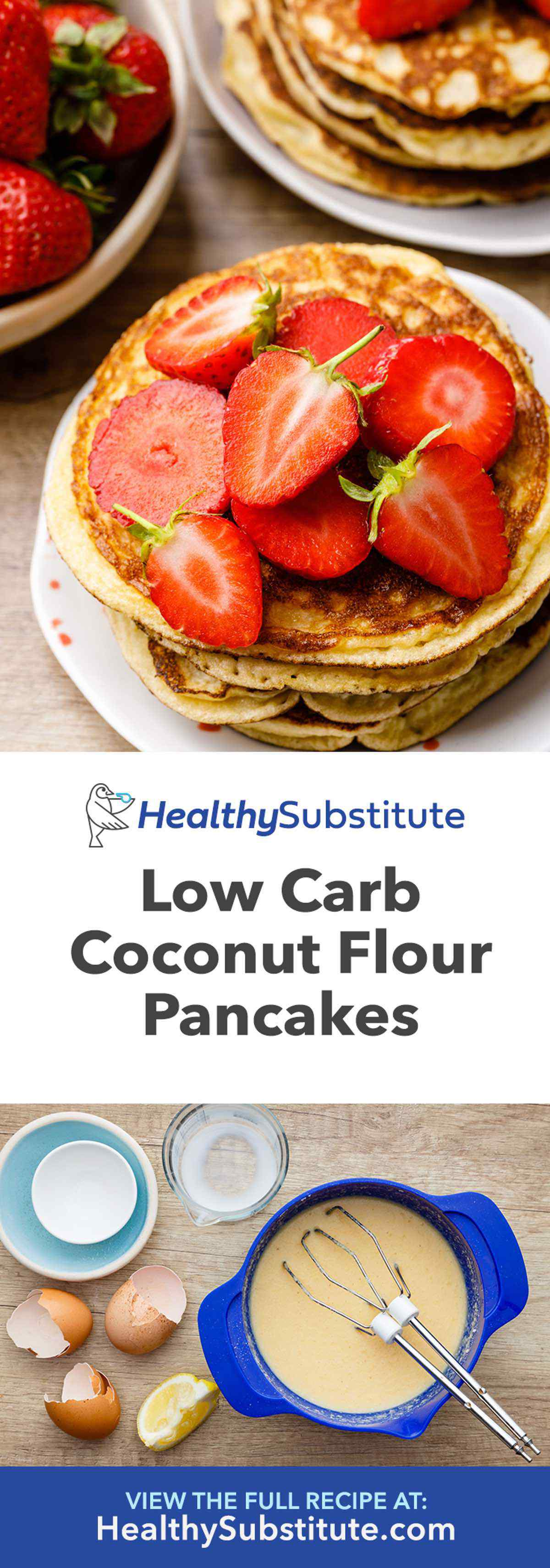 Low Carb Coconut Flour Pancakes