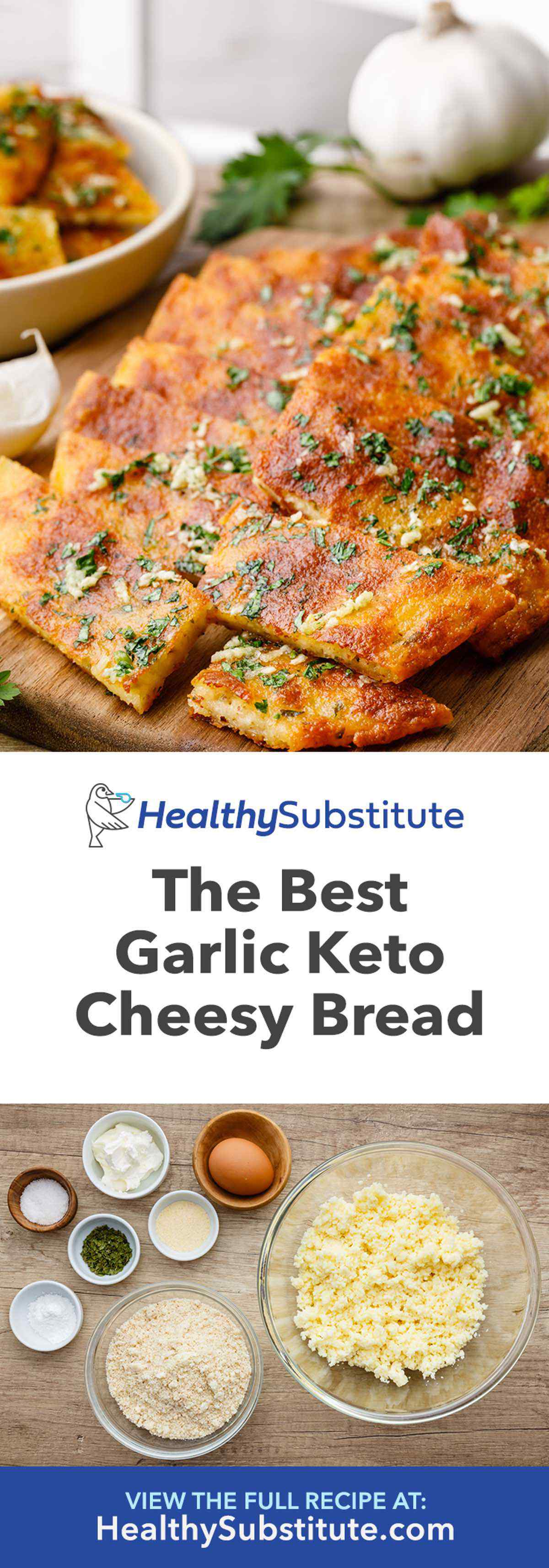 Low Carb Garlic Keto Cheesy Bread