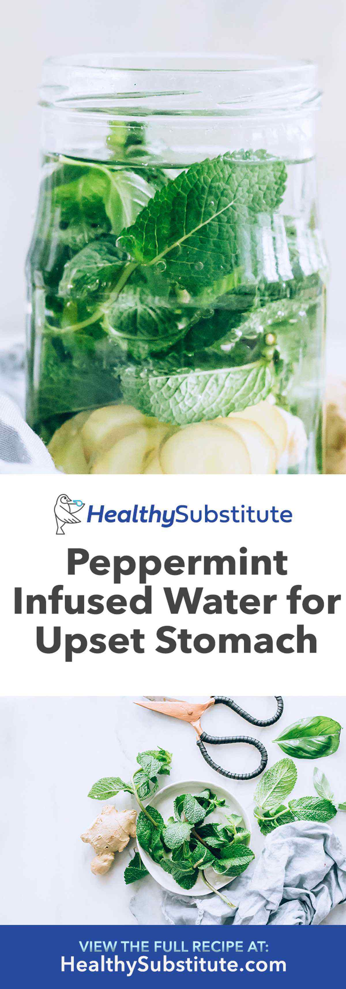Peppermint Water for Upset Stomach