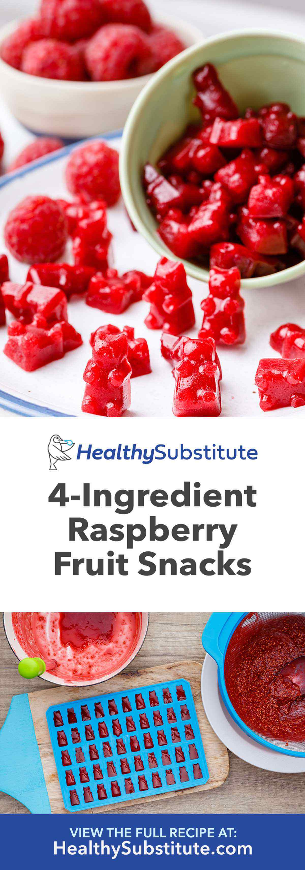 Homemade Raspberry Gummy Fruit Snacks