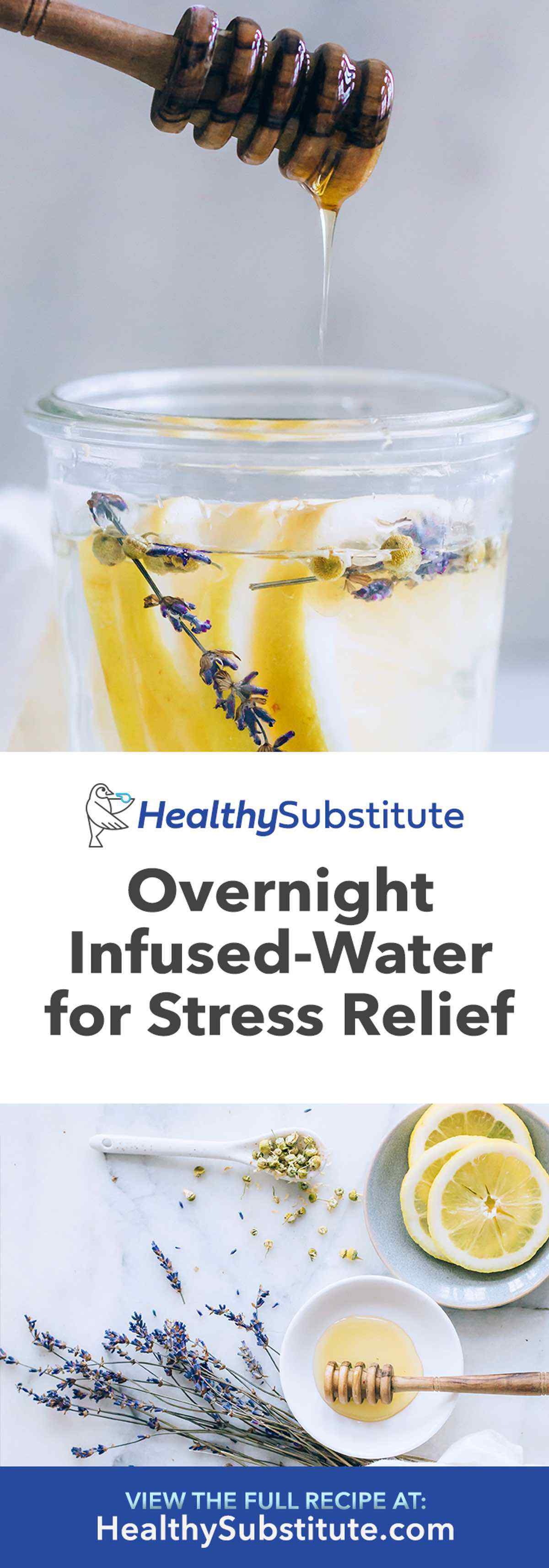 Overnight Infused Water for Stress Relief