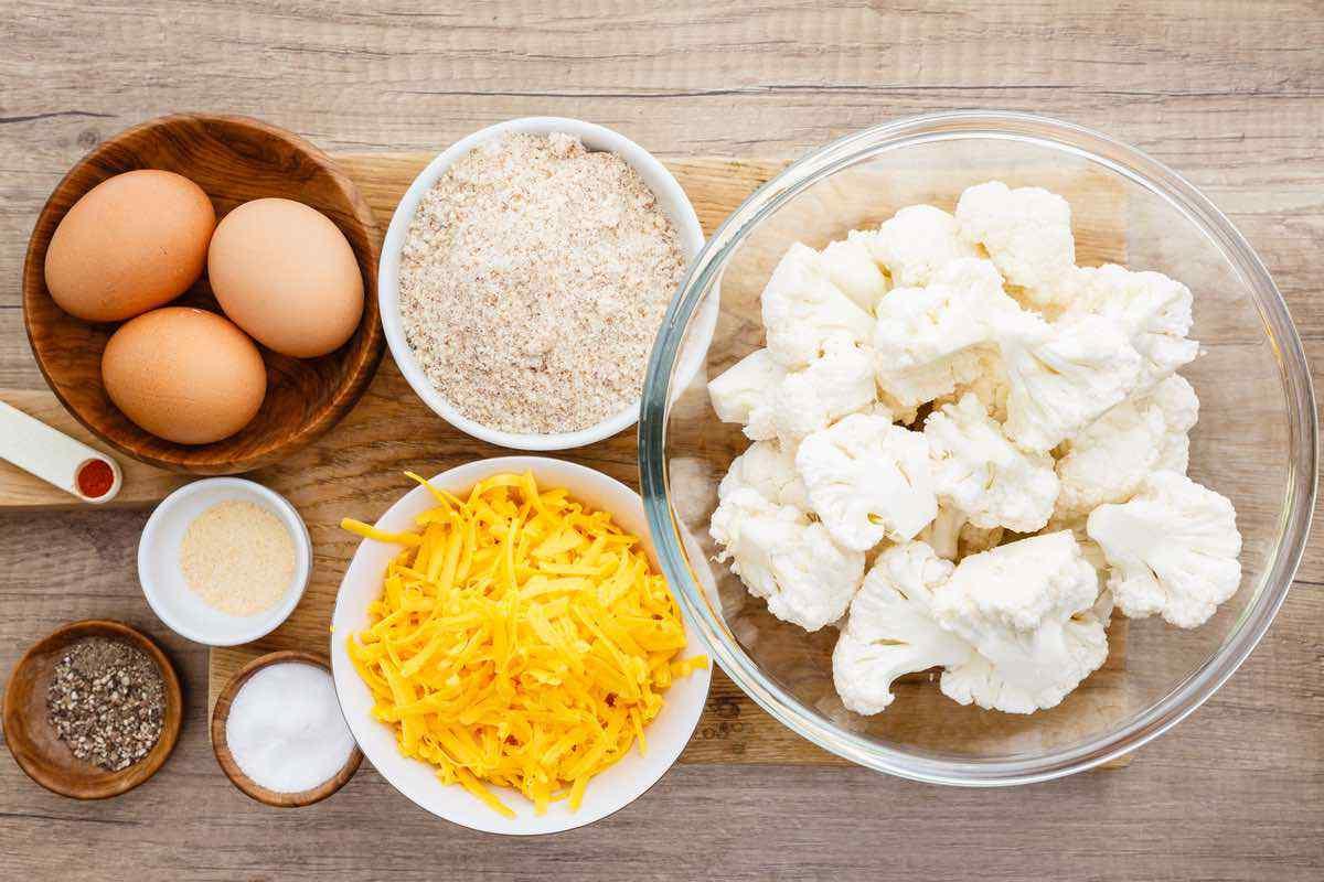 Roasted Cauliflower Rice Tots
