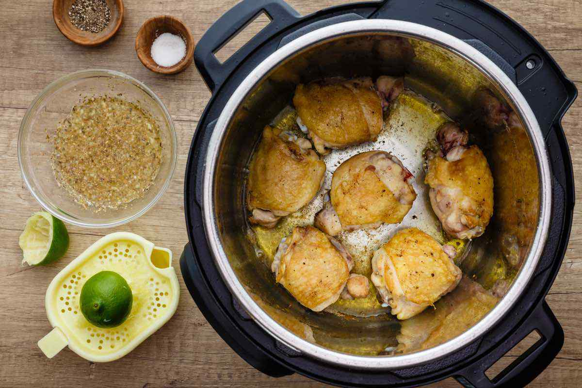 Instant Pot Honey Lime Chicken Thighs