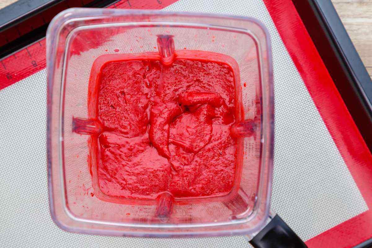 3-Ingredient Raspberry Fruit Leather