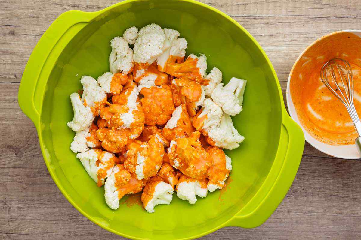 Roasted Buffalo Cauliflower with Homemade Ranch