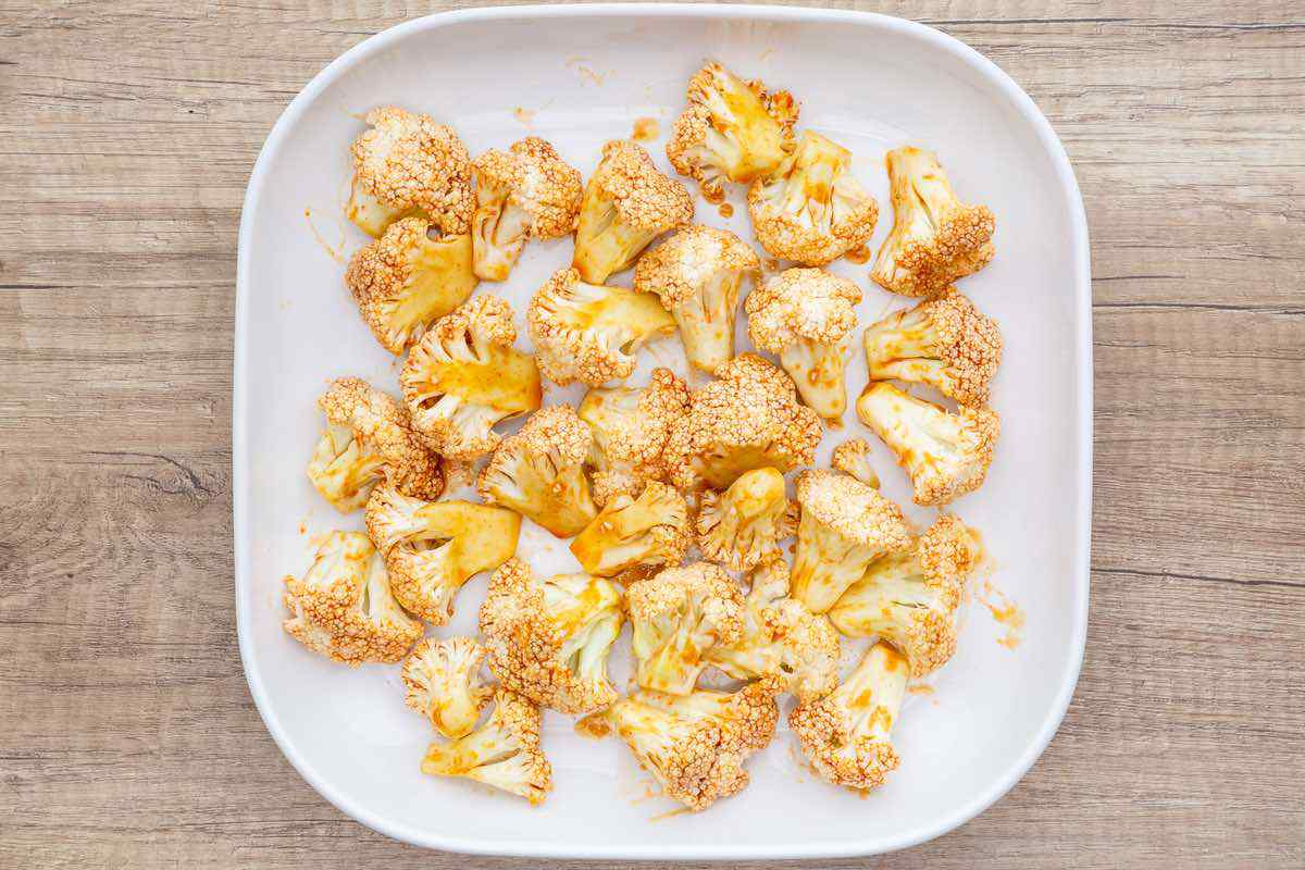 Spicy Oven Roasted Cauliflower