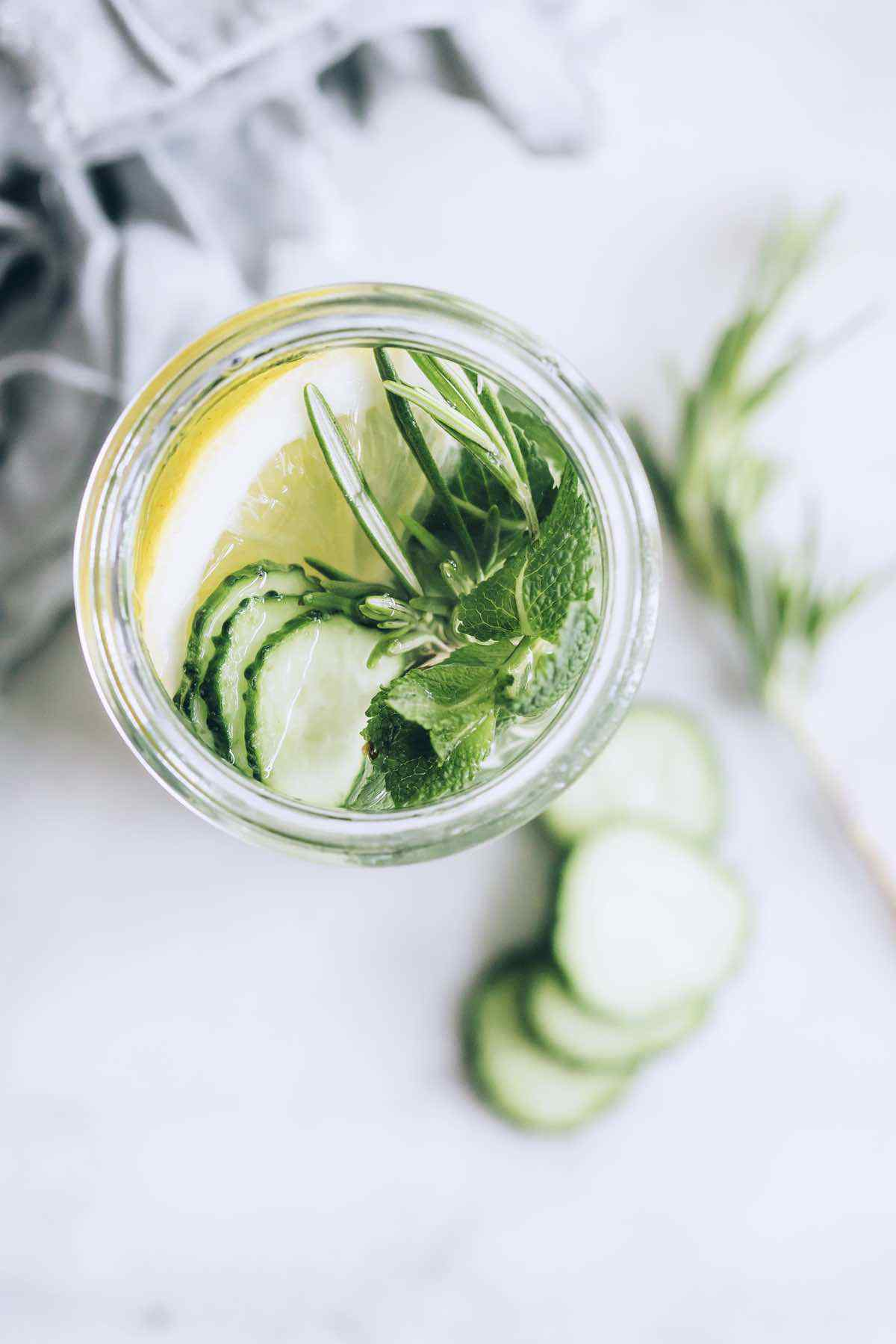 Cucumber Water for Bloated Stomach