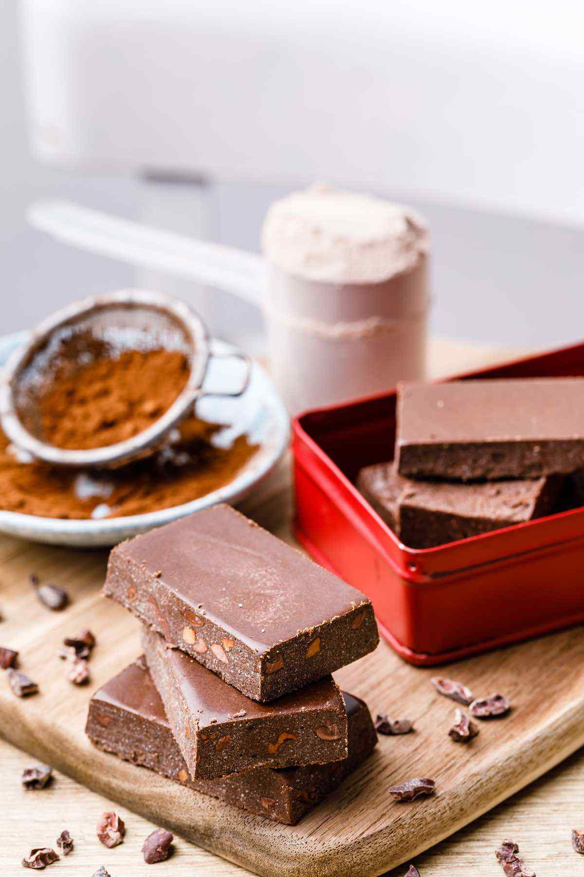 Keto Chocolate Protein Bars