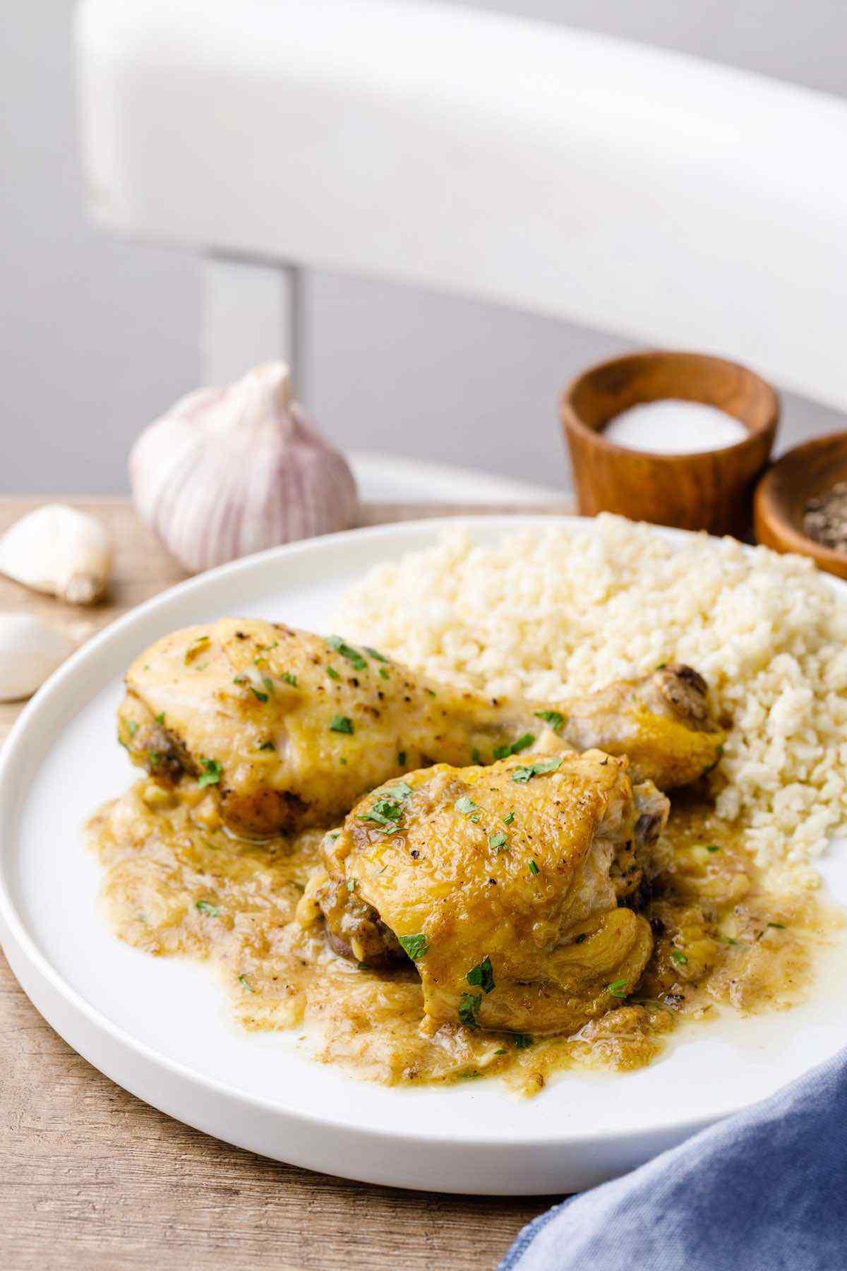 Instant Pot Garlic Chicken