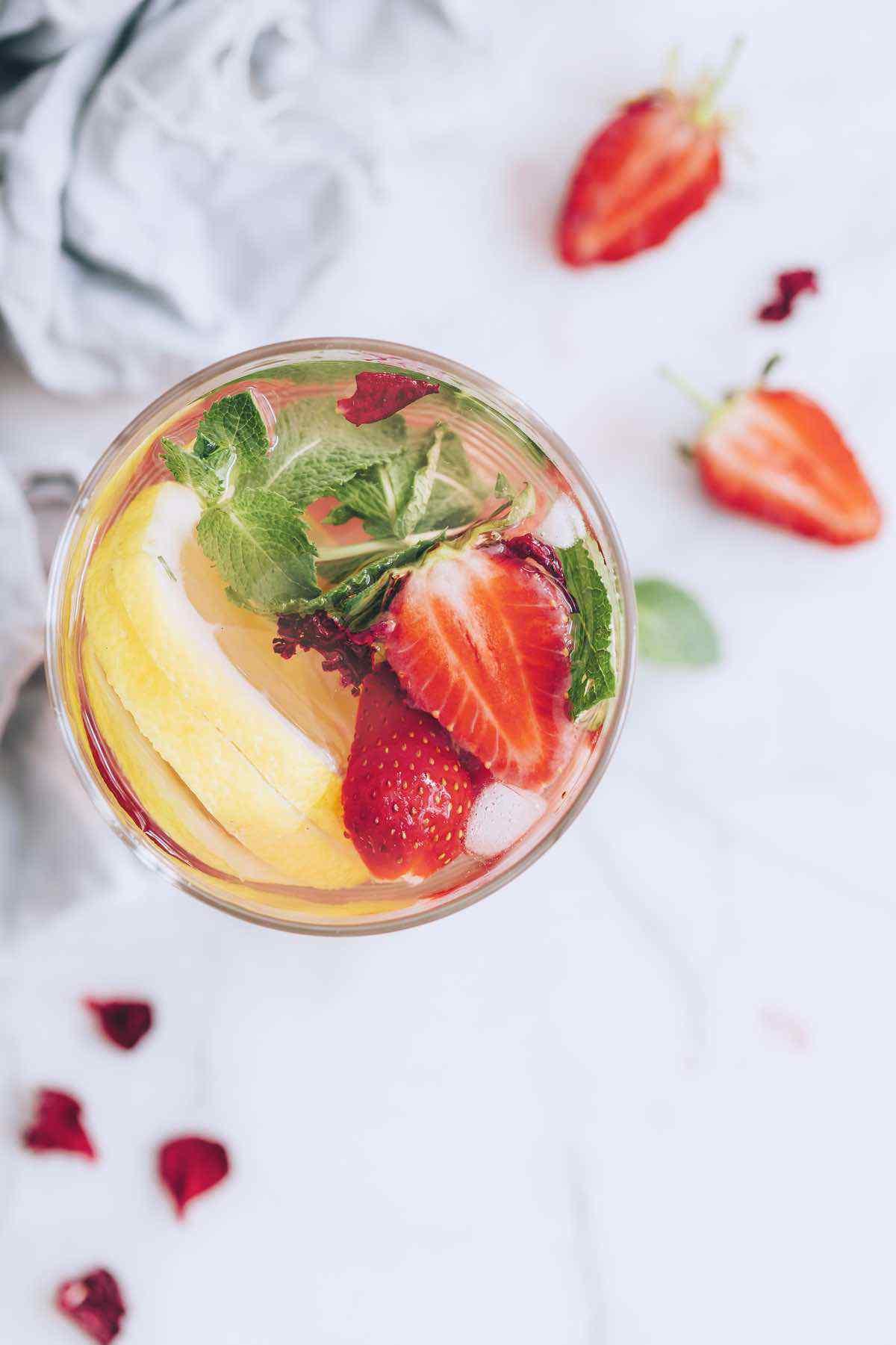 Strawberry Lemonade Infused Water