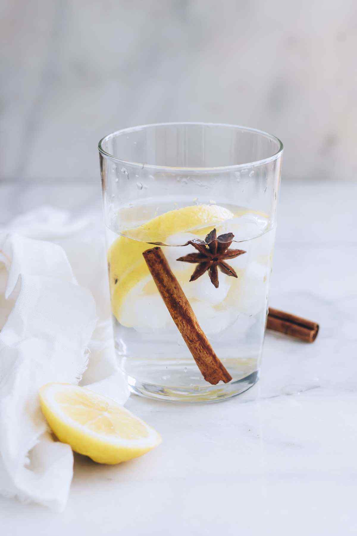 Iced Lemon Cinnamon Water