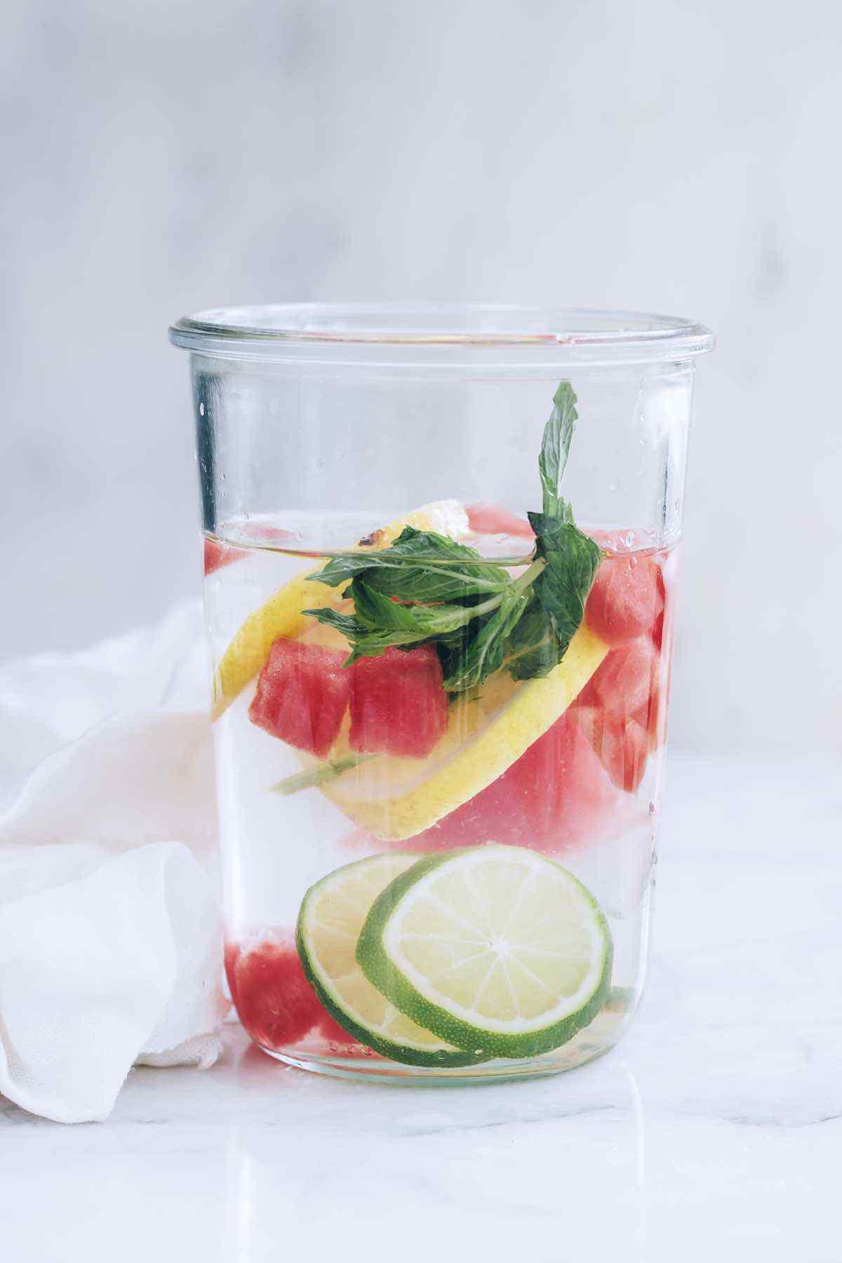 Lemon Lime Watermelon Infused Water
