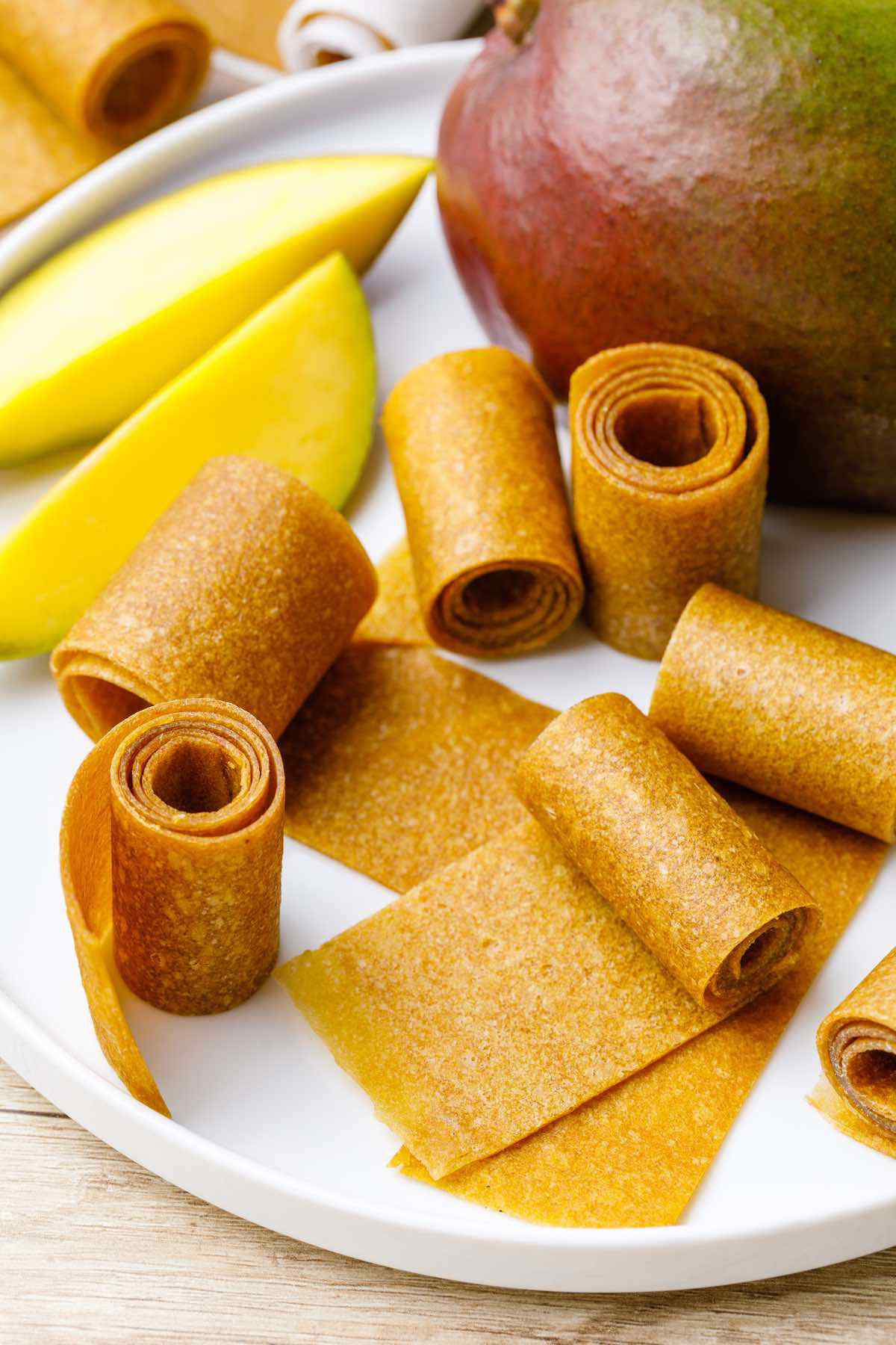 Homemade Mango Fruit Leather