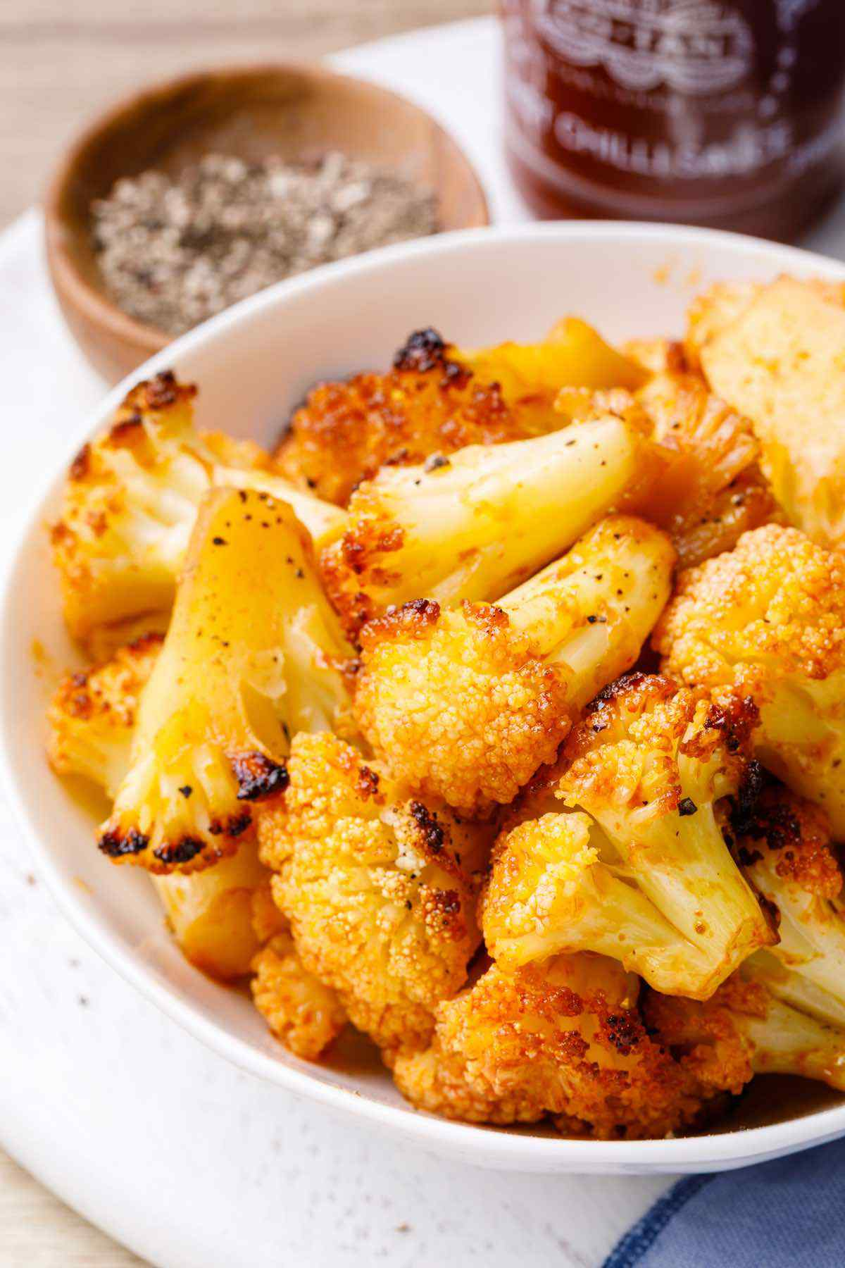 Spicy Oven Roasted Cauliflower