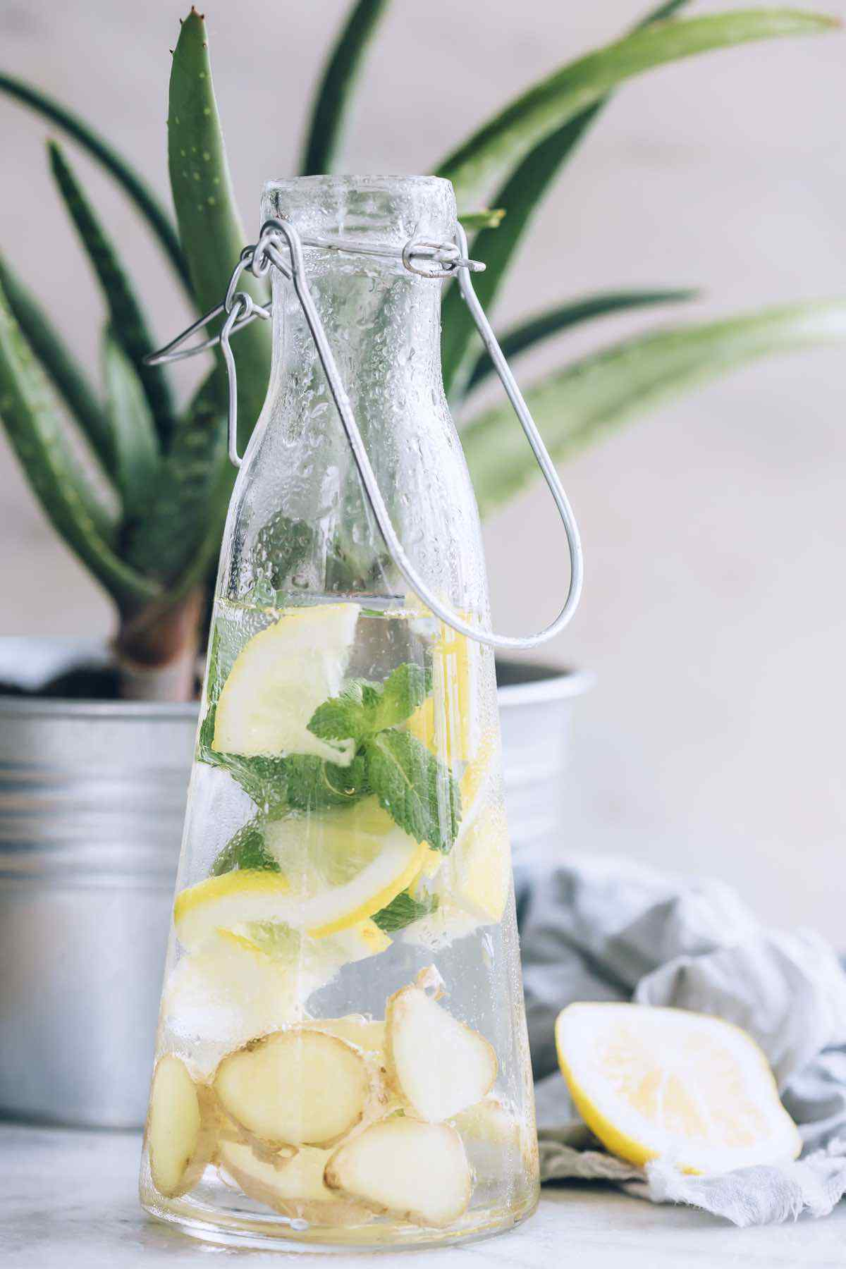 Infused Water to Help Relieve Stomach Cramps