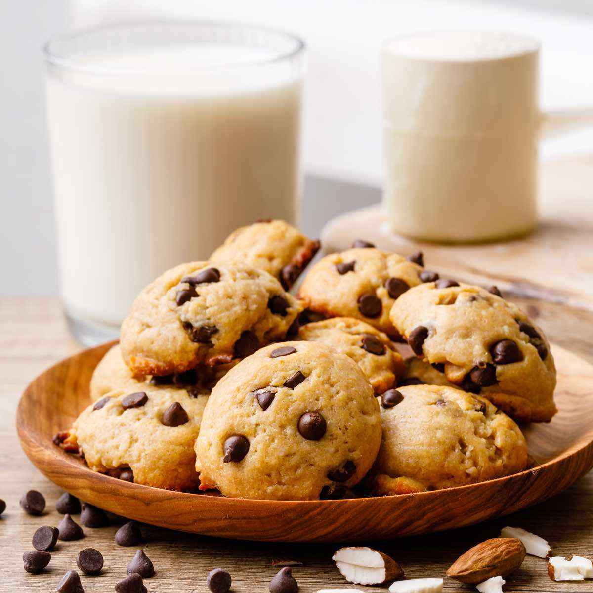 6 Ingredient Almond Flour Chocolate Chip Protein Cookies Healthy Substitute