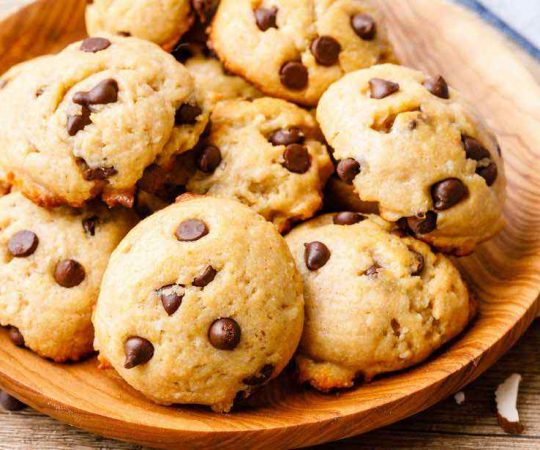 Almond Flour Chocolate Chip Protein Cookies