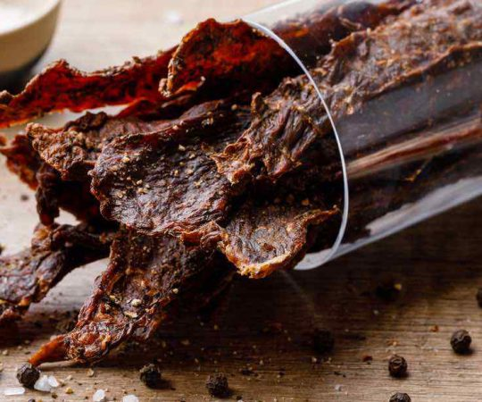 Homemade Black Pepper Beef Jerky in Oven