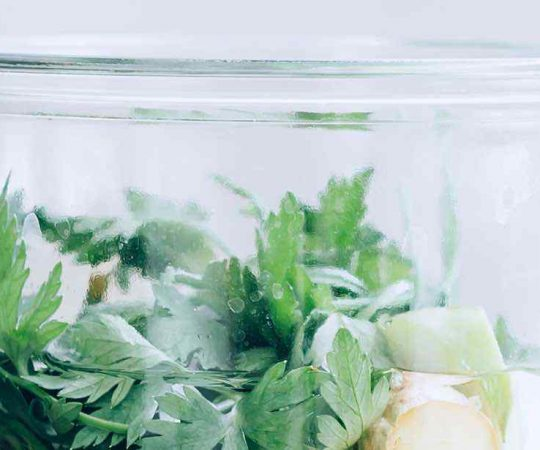 Green Apple Ginger Infused Water