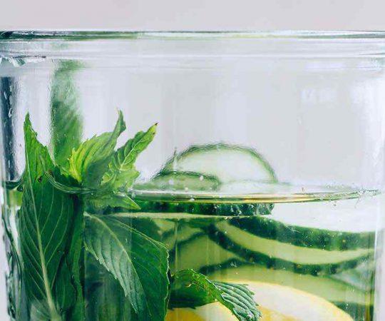 Mint Lemon Cucumber Water