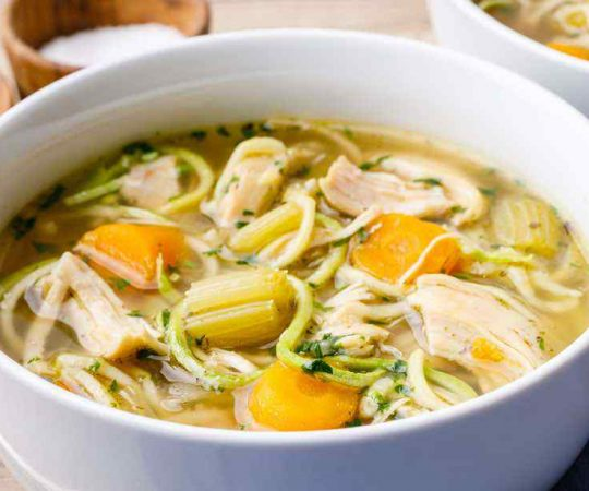 Low Carb Instant Pot Bone Broth Chicken Soup