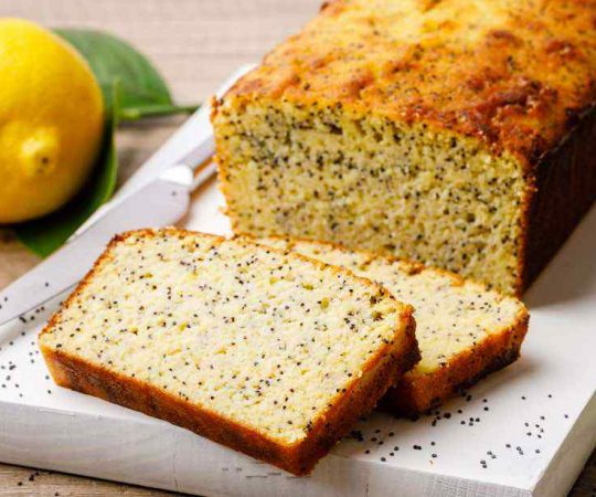 Low Carb Lemon Poppy Seed Coconut Flour Keto Bread