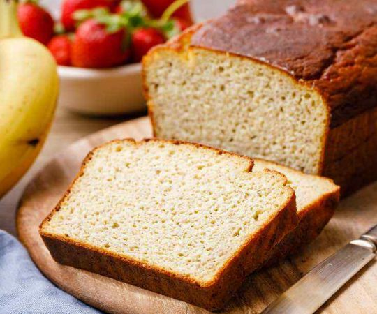 Almond Flour Low Carb Paleo Banana Bread Recipe