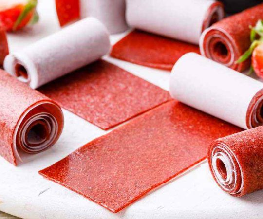 Homemade Strawberry Fruit Leather