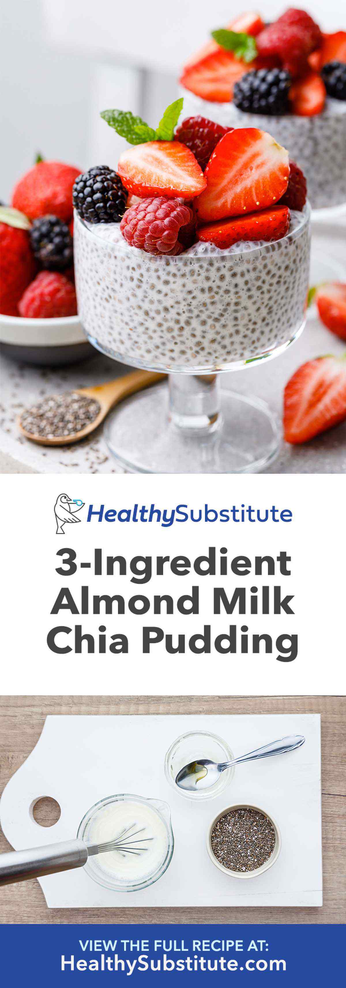 Easy 3-Ingredient Chia Seed Pudding with Almond Milk