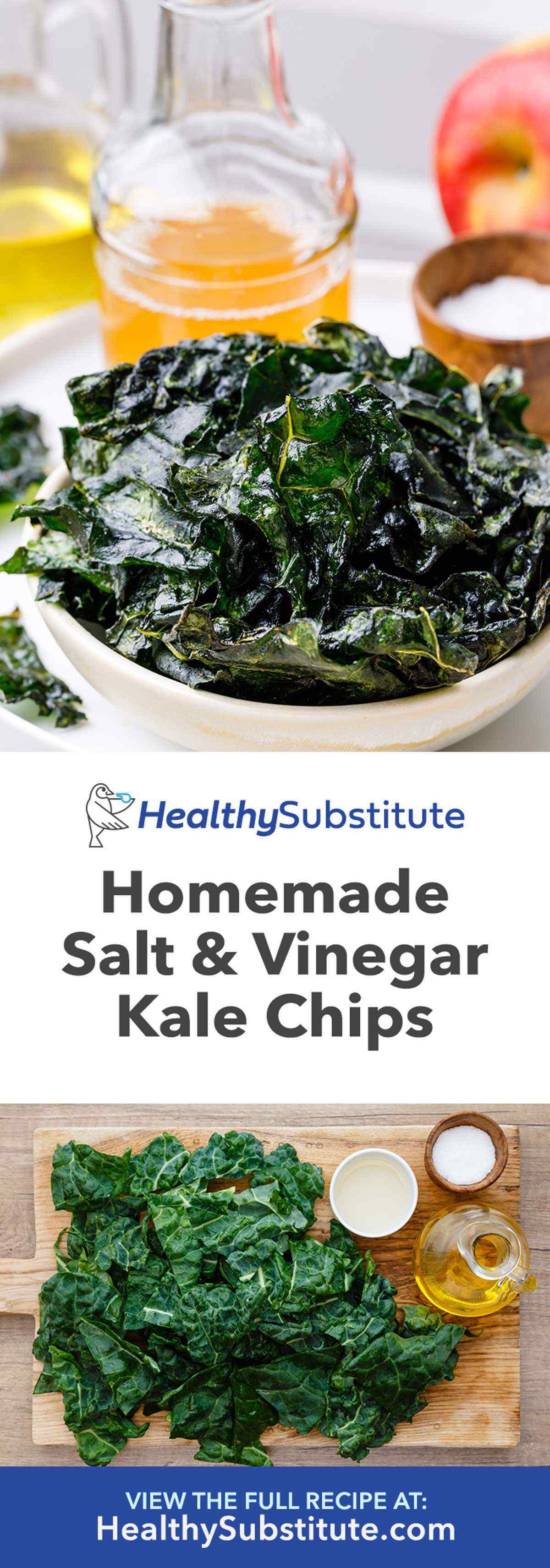 Homemade Salt and Apple Cider Vinegar Kale Chips