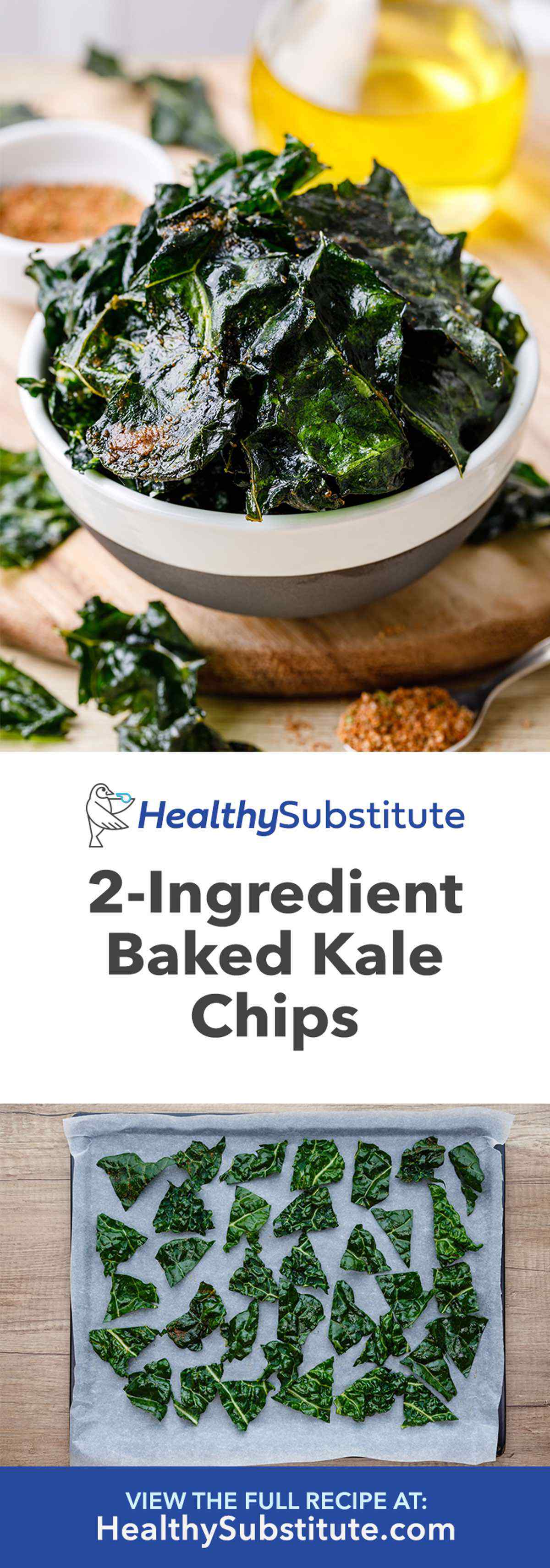 How to Make 2-Ingredient Baked Kale Chips at Home