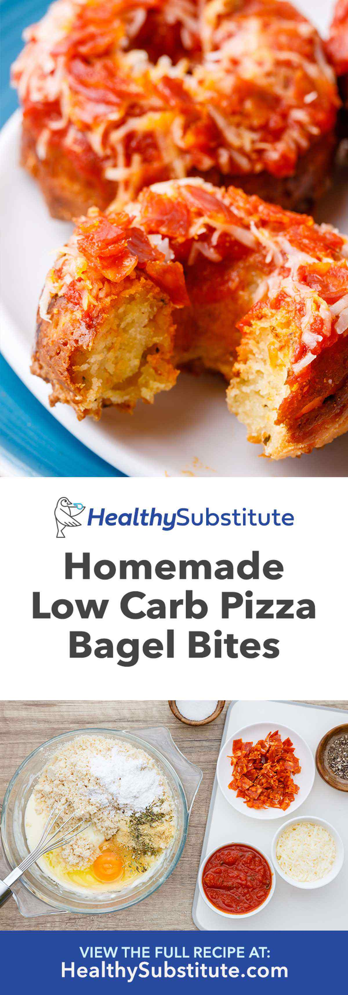 Homemade Low Carb Pizza Bagel Bites