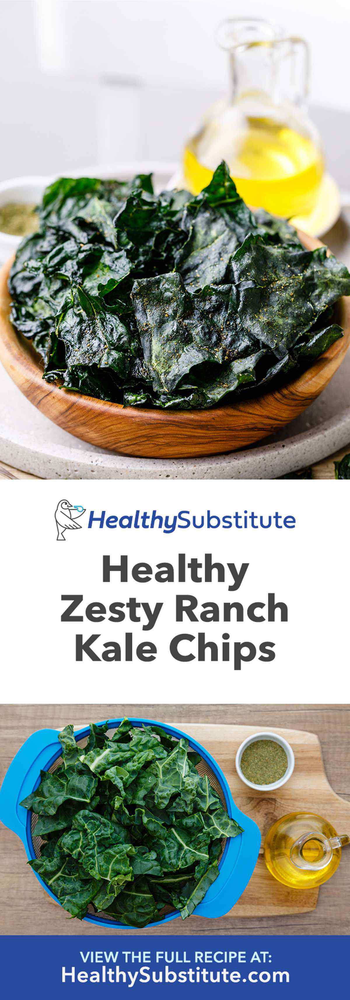 Healthy Homemade Ranch Kale Chips