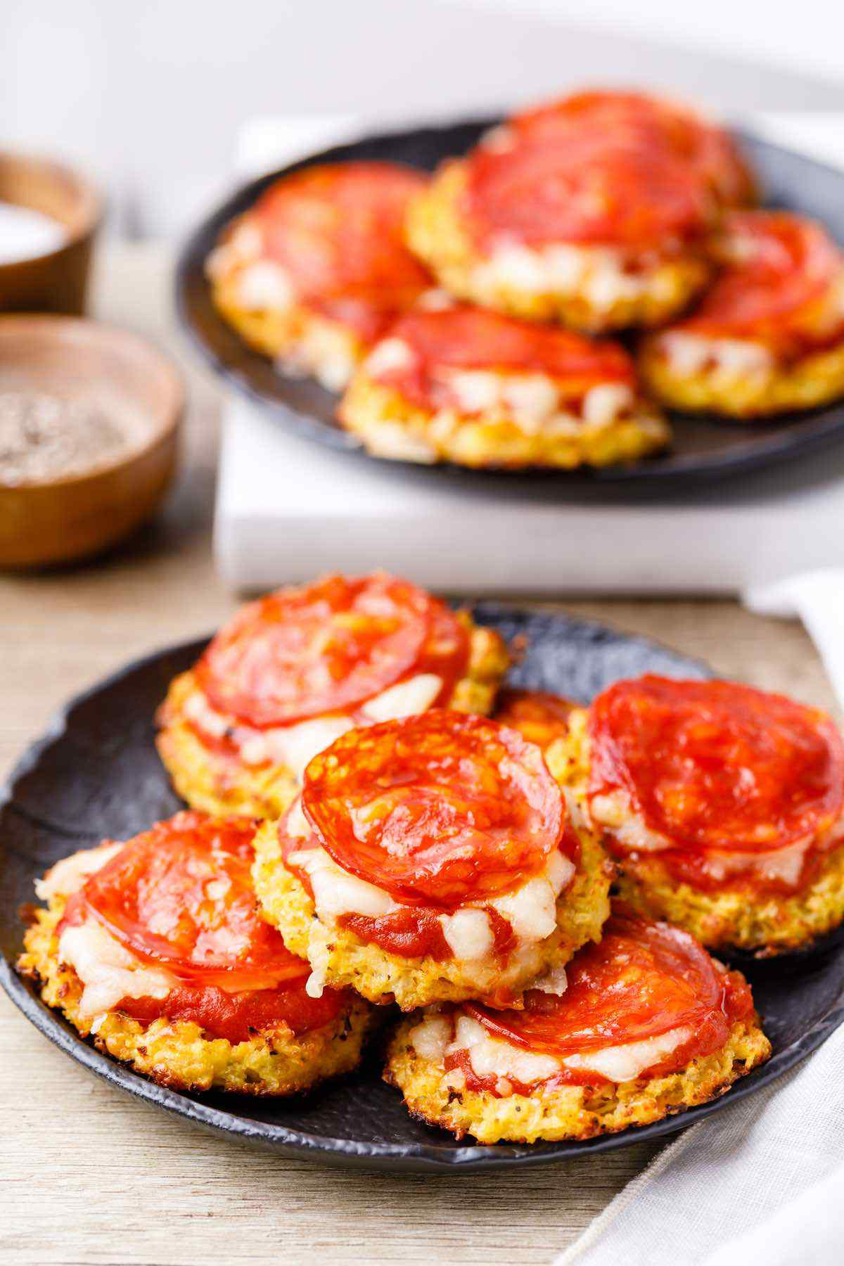 Cheesy Cauliflower Keto Pizza Bites