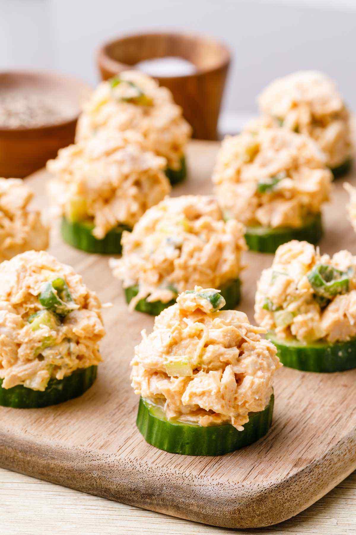 High Protein Chicken Salad Bites