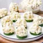 Easy 6-Ingredient Cucumber Salad Bites