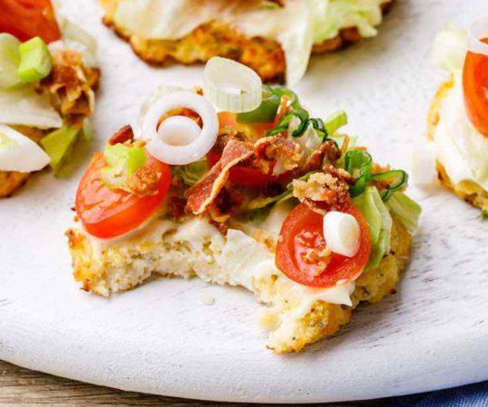 BLT Cauliflower Pizza Bites