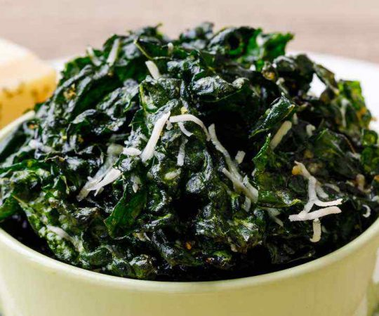 Lemon Parmesan Homemade Kale Chips