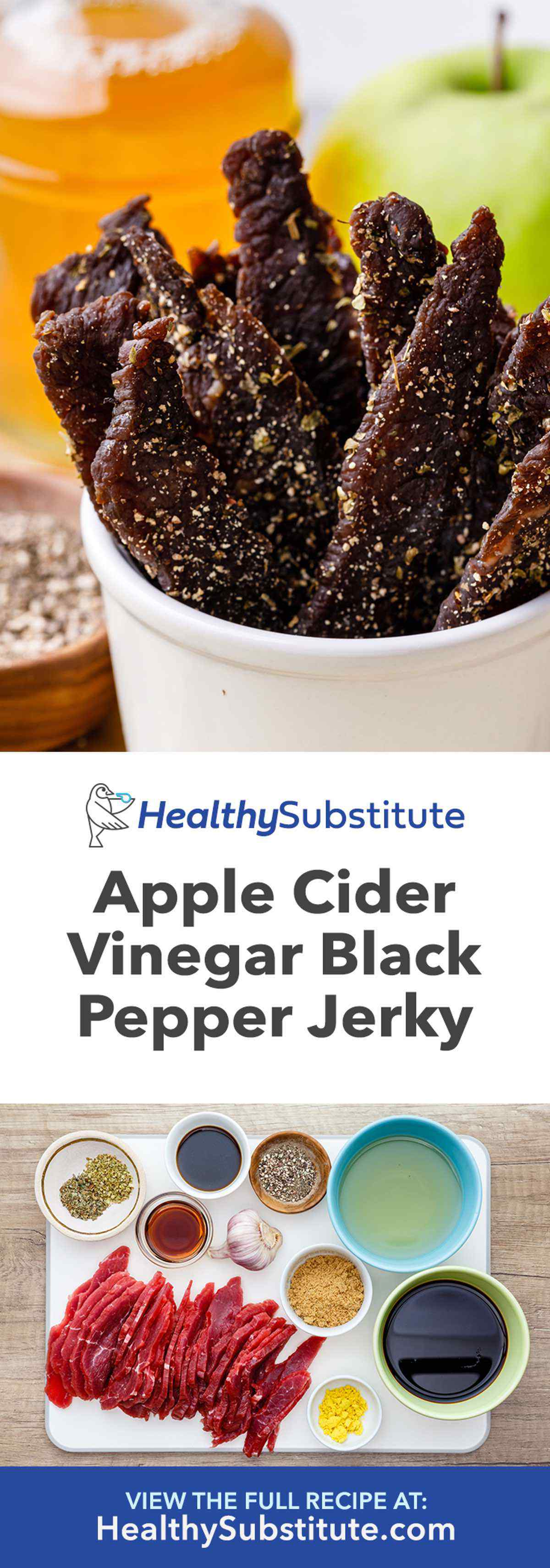 Apple Cider Vinegar Black Pepper Beef Jerky