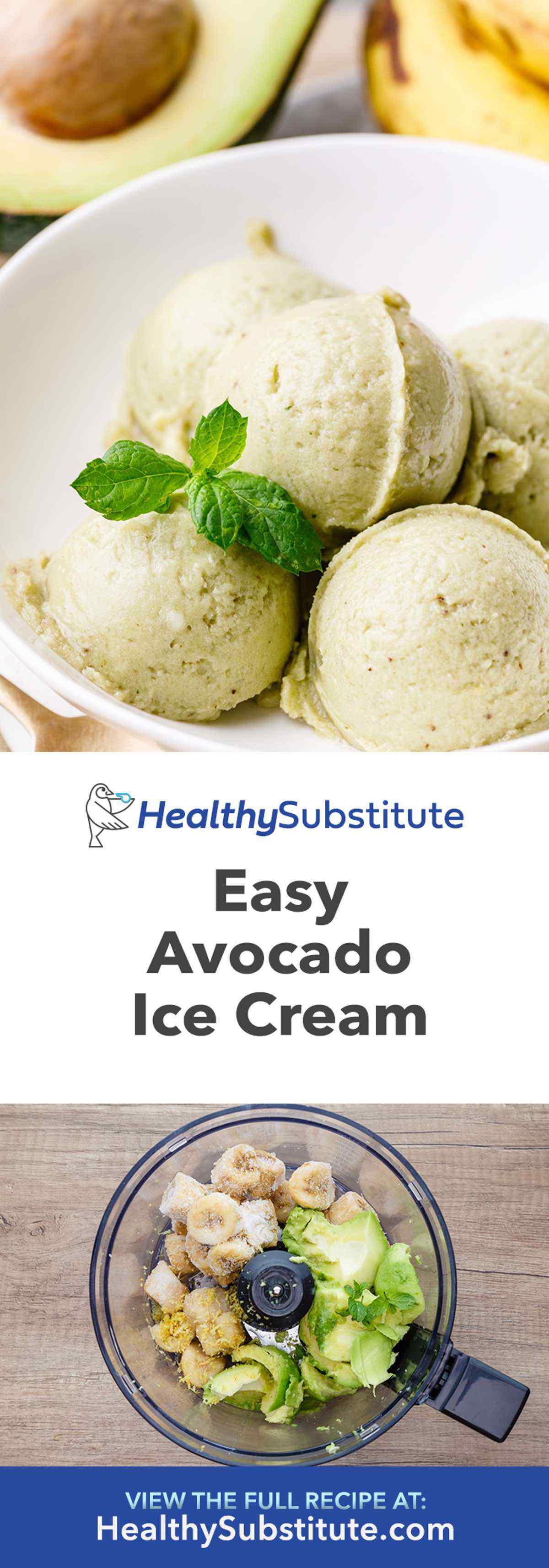 Avocado Ice Cream Recipe No Eggs