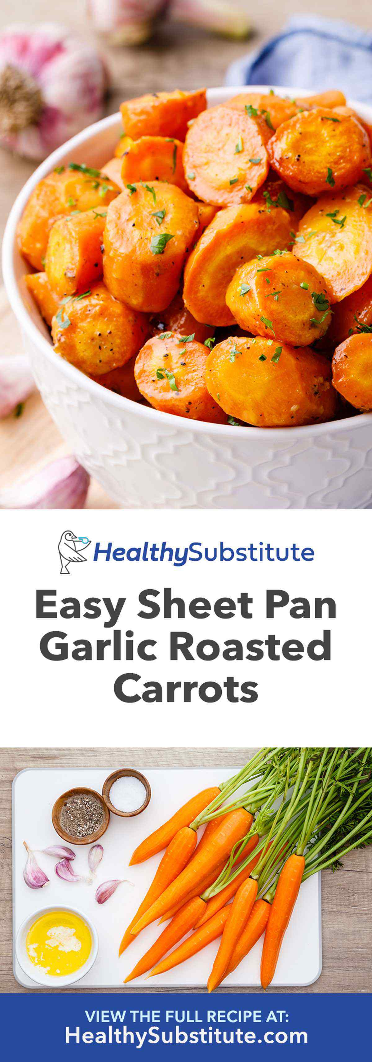 Easy Sheet Pan Garlic Roasted Carrots