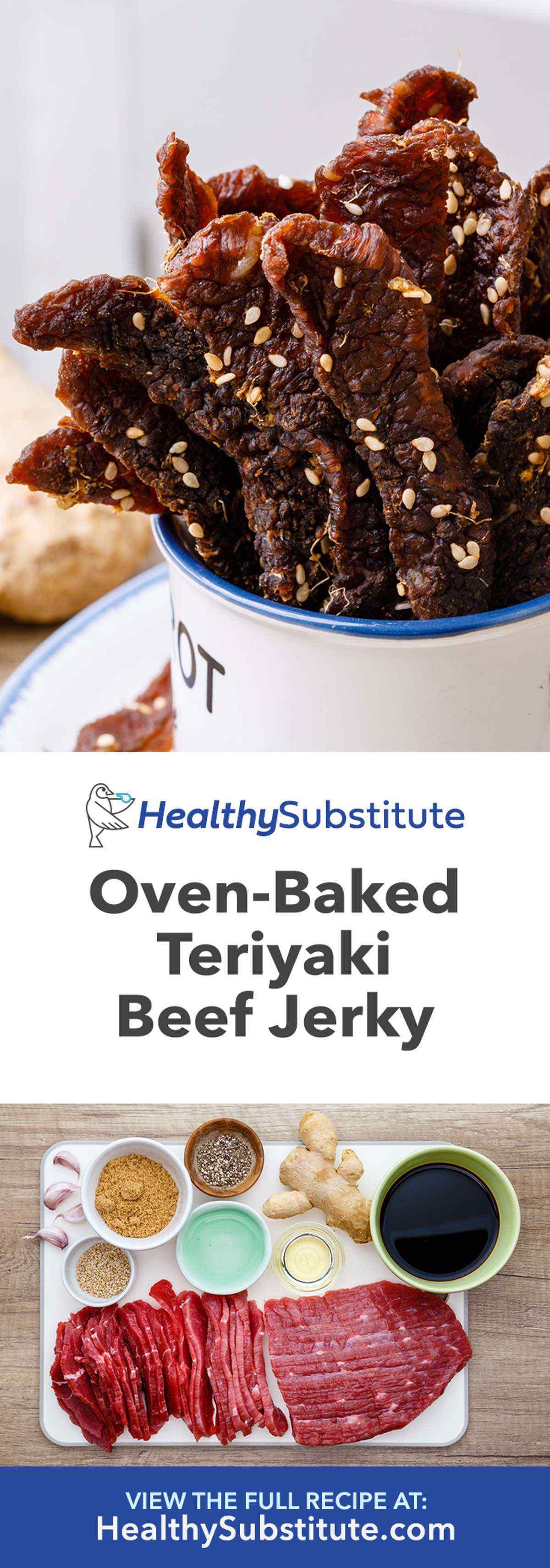 Oven Baked Teriyaki Beef Jerky