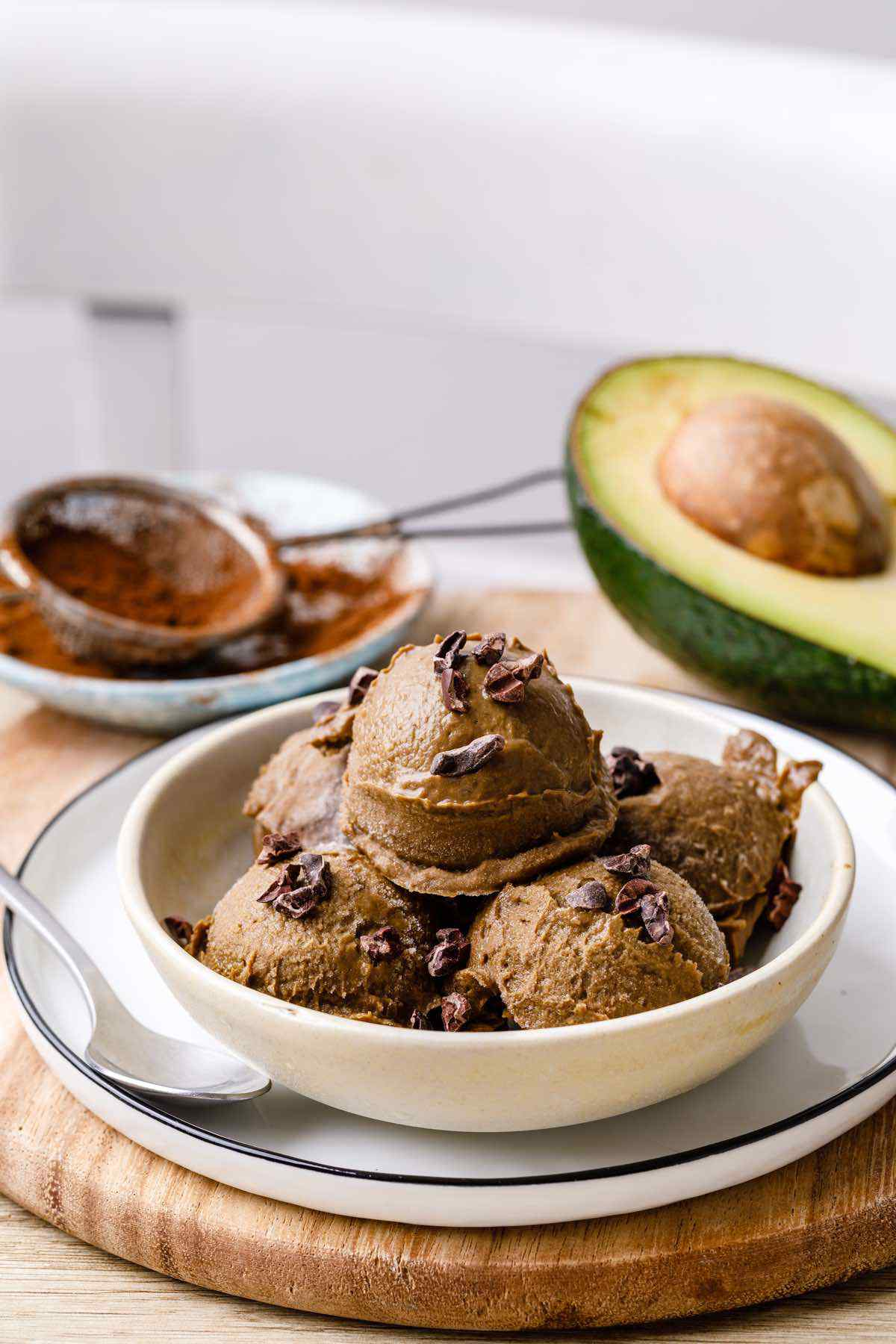 Chocolate Avocado Dairy-Free Ice Cream