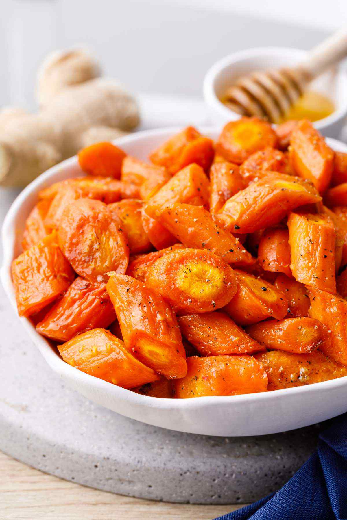 Ginger Honey Roasted Carrots