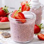 Strawberry Almond Milk Chia Pudding
