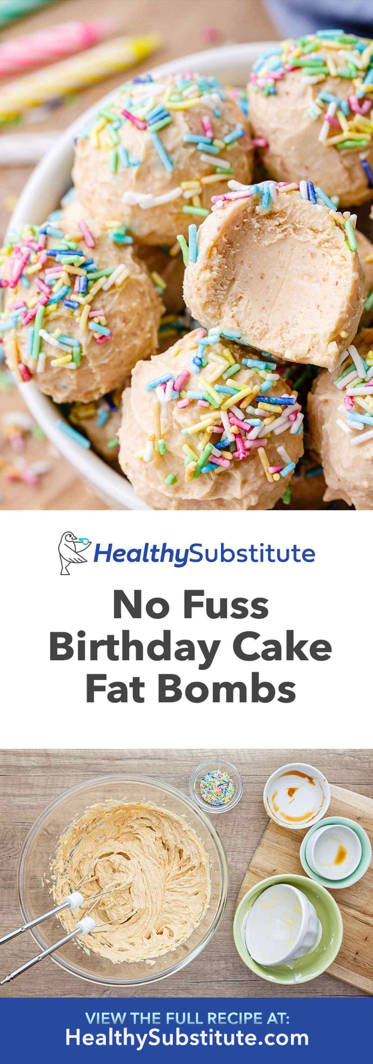 Birthday Cake Fat Bombs