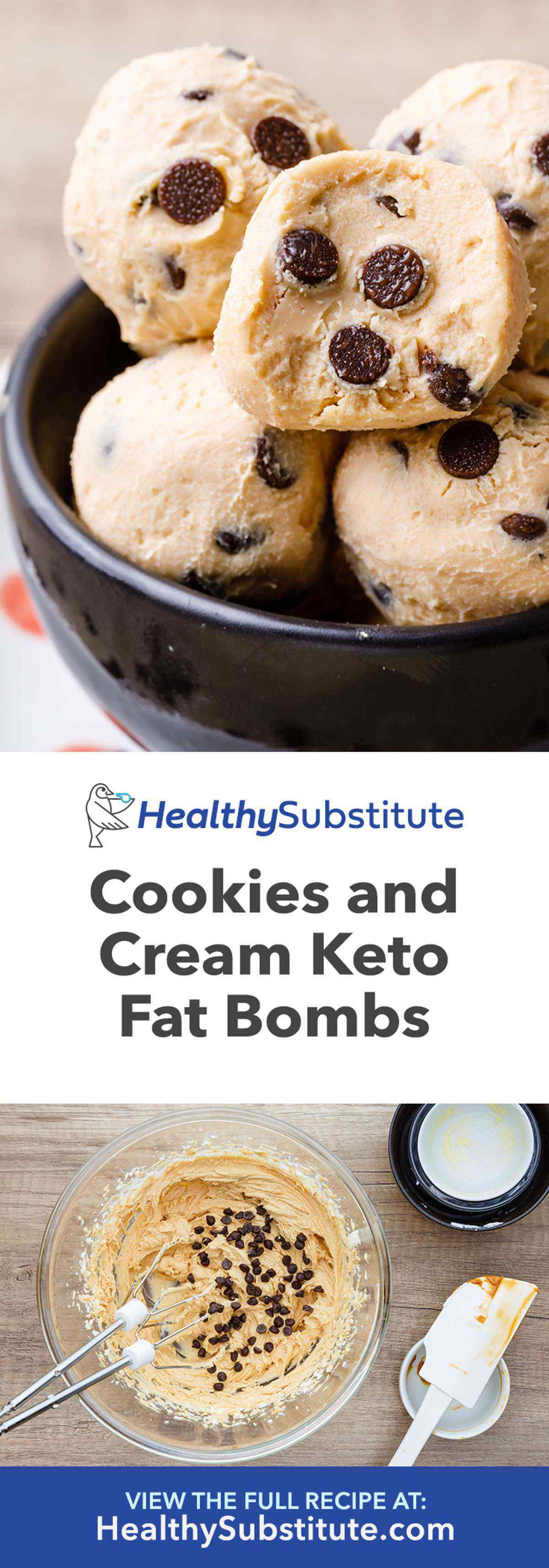 Cookies and Cream Keto Fat Bombs